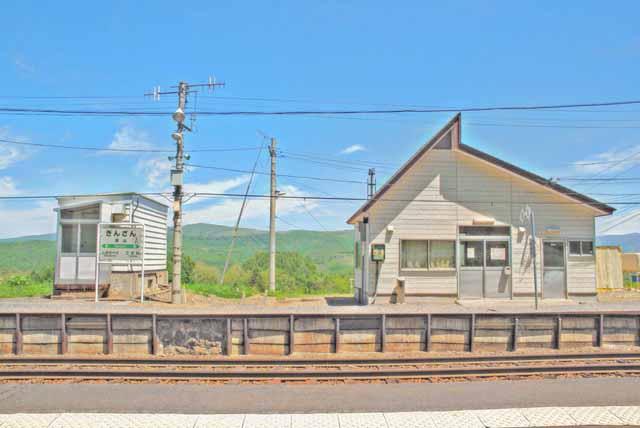 商用可・イラスト風フリー素材・銀山駅