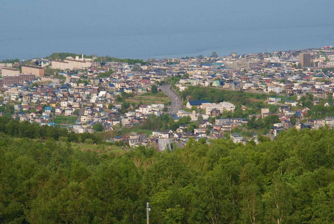 写真:小樽撮影スポットその1「ワインの丘」桜・望洋台