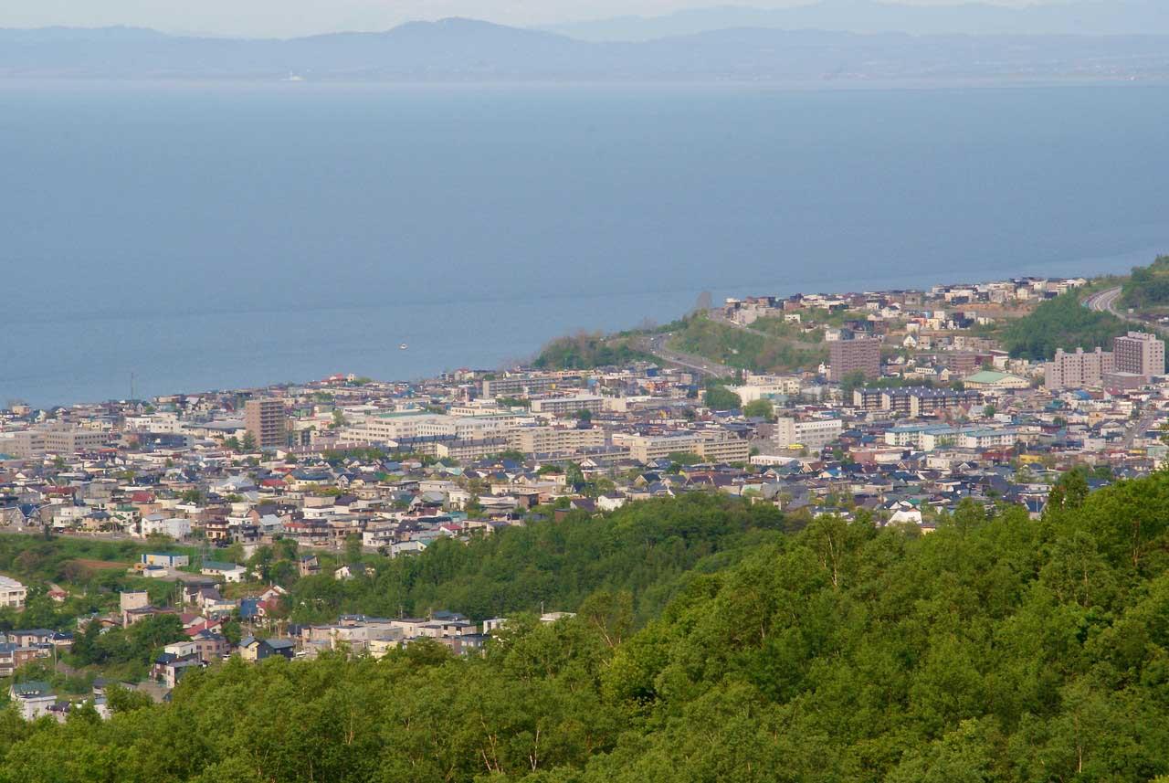 写真:小樽撮影スポットその1「ワインの丘」朝里・新光