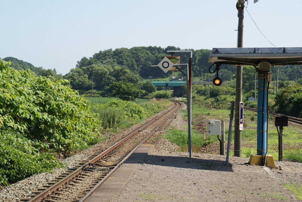 写真北海道撮影スポット室蘭本線有珠駅