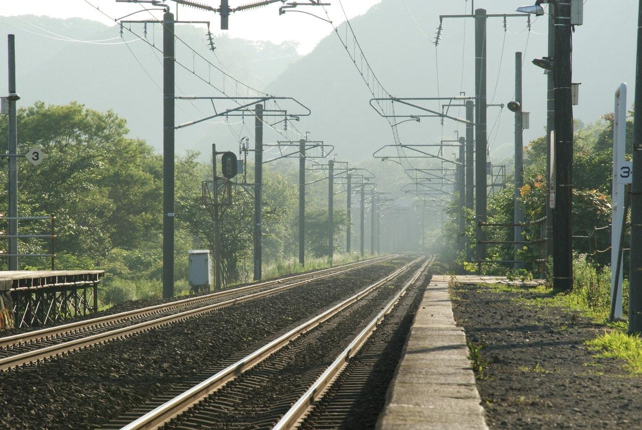 写真北海道撮影スポット室蘭本線富浦駅