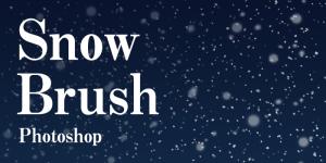【フリー素材】写真やイラストの降雪表現に使えるリアルな雪ブラシ:Photoshop