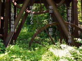 1億年前〜明治大正昭和…時を超える三笠野外博物館