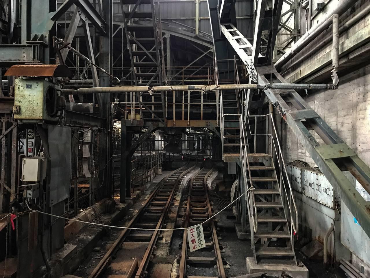 住友赤平炭鉱立坑内部