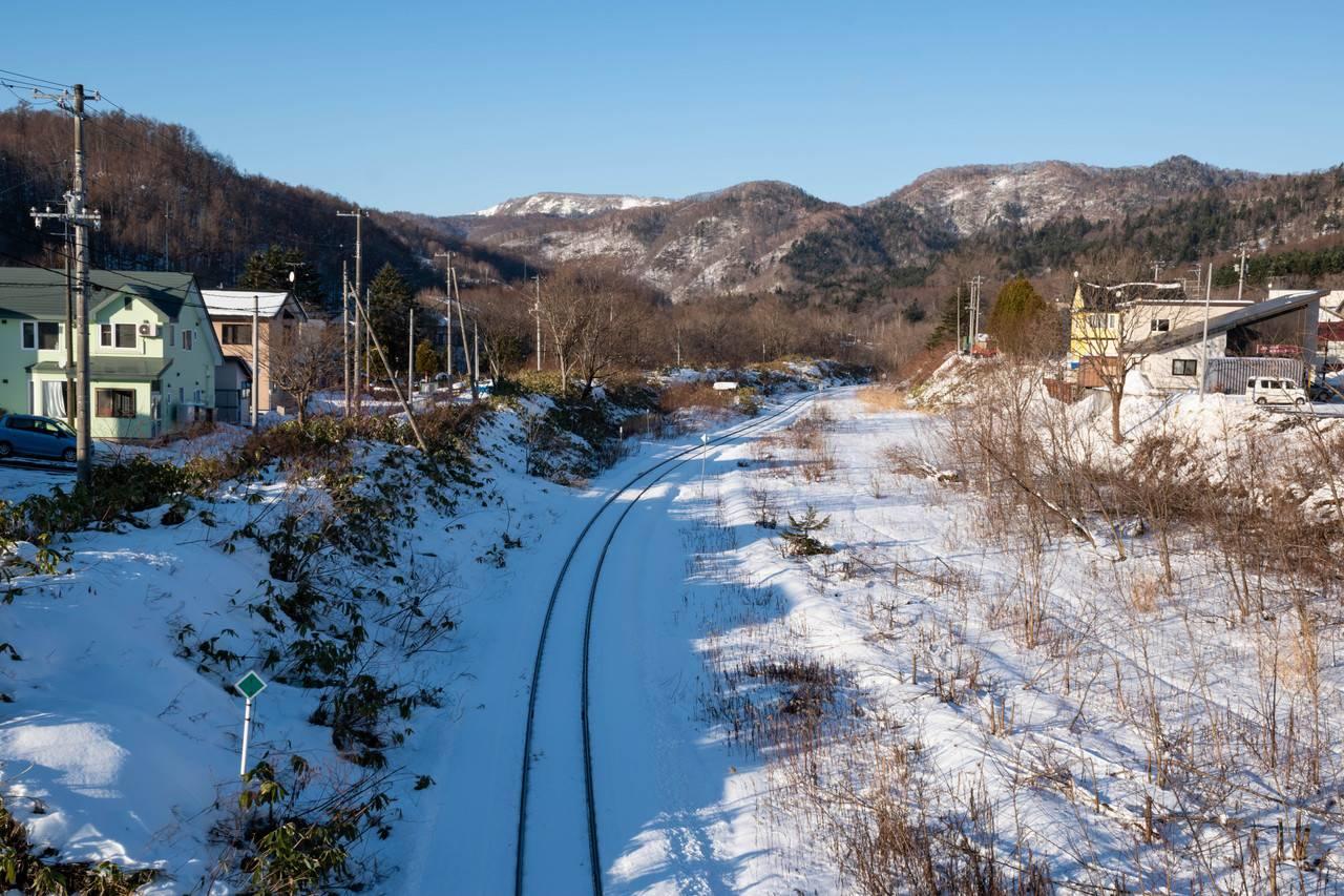 冬の清水沢駅