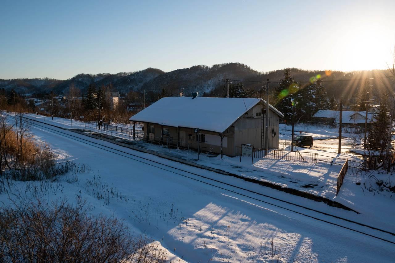 冬の鹿ノ谷駅