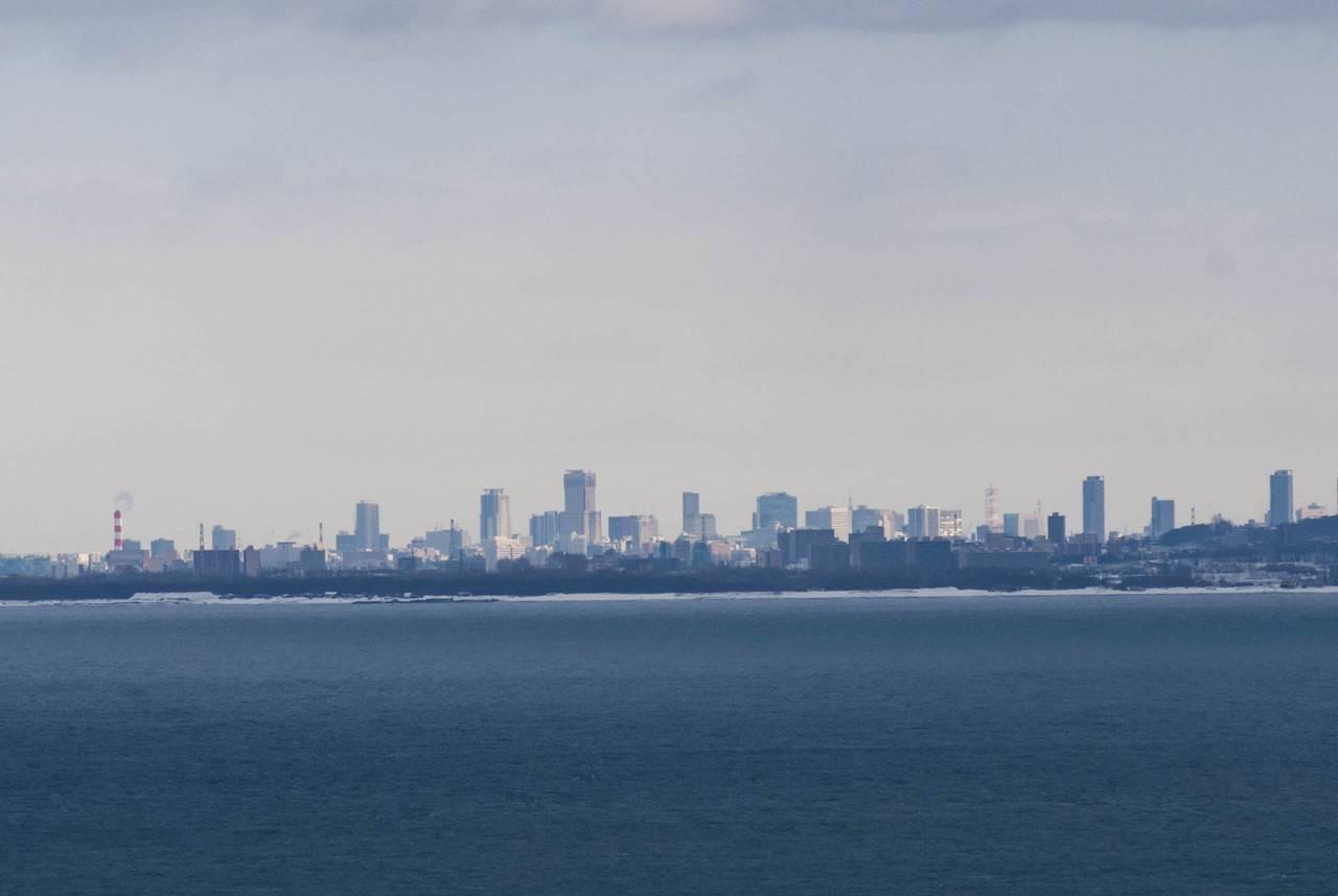 祝津パノラマ展望台から見た札幌