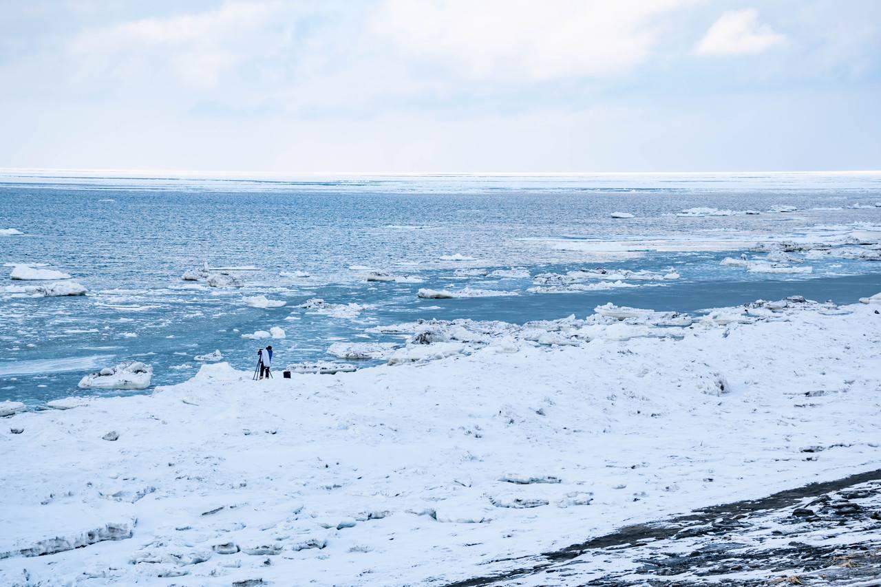 以久科原生花園の流氷