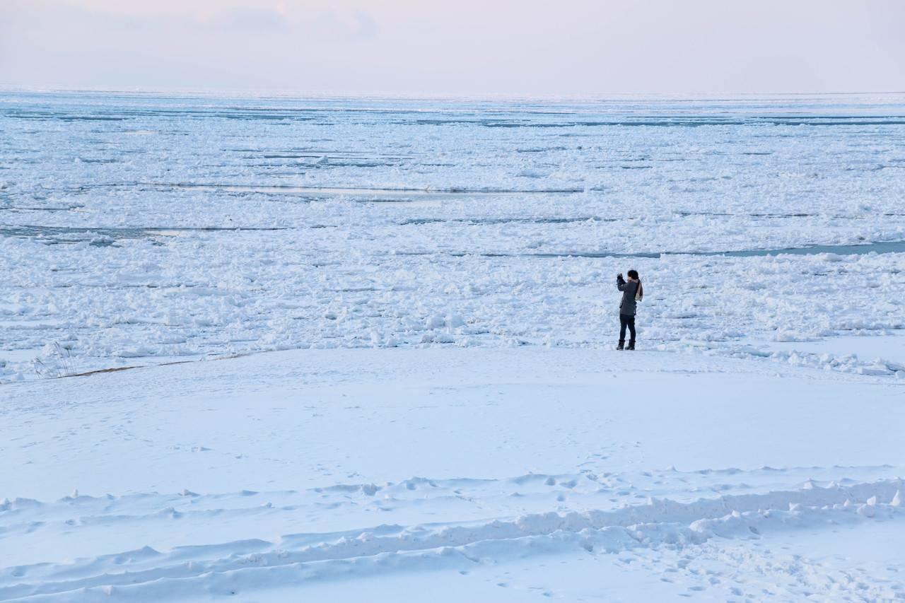 斜里町日の出地区 流氷展望ひろば