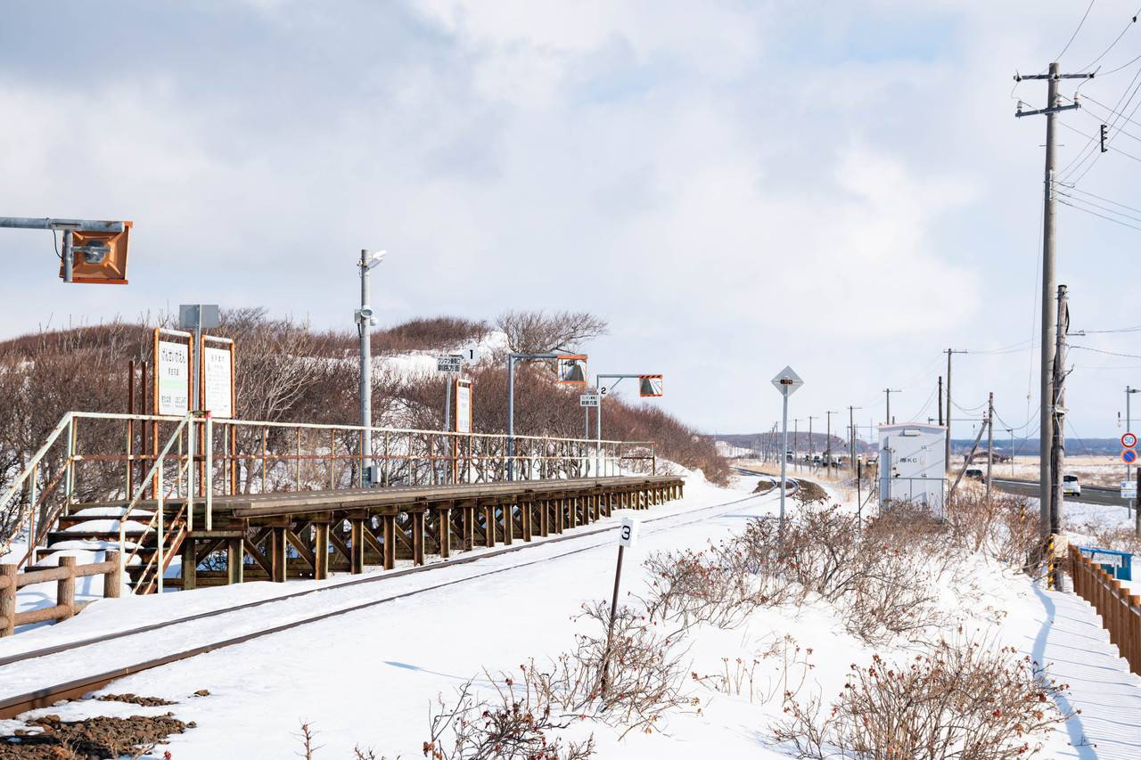 釧網線原生花園駅