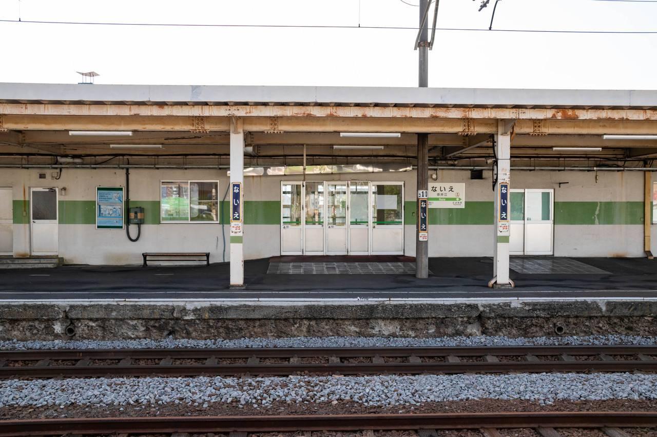 奈井江駅ホーム