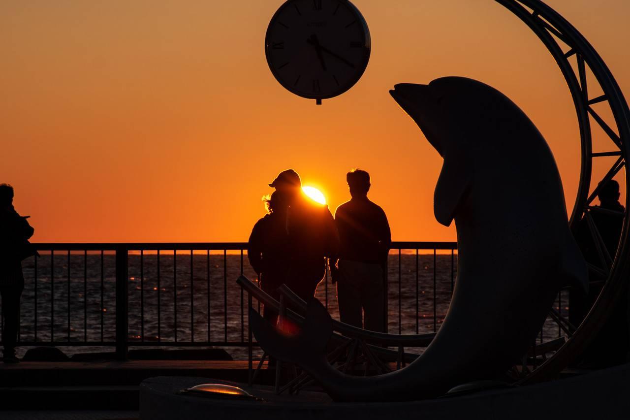 ノシャップ岬の夕景