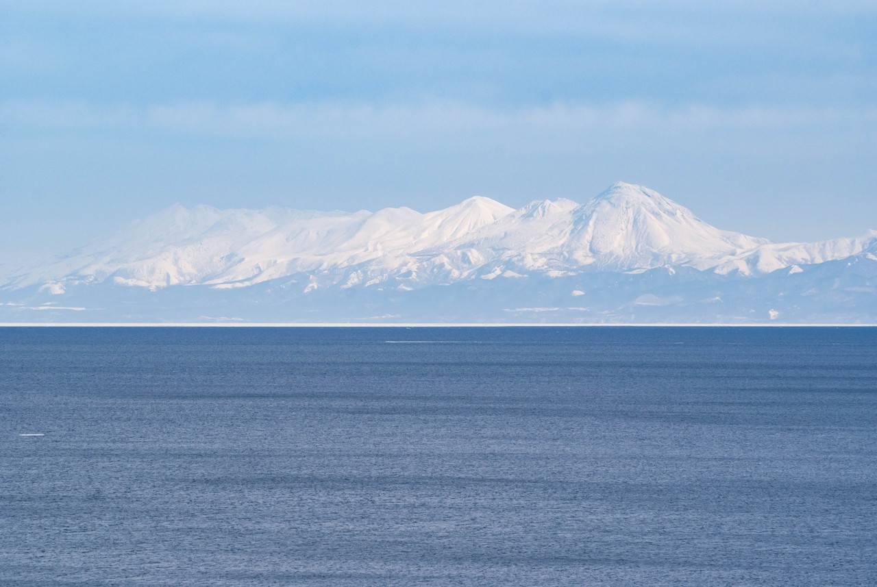 フレトイ展望台から見た知床連山