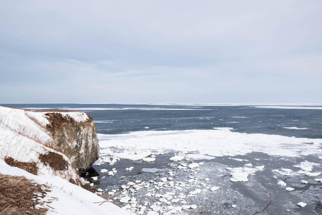 冬の能取岬