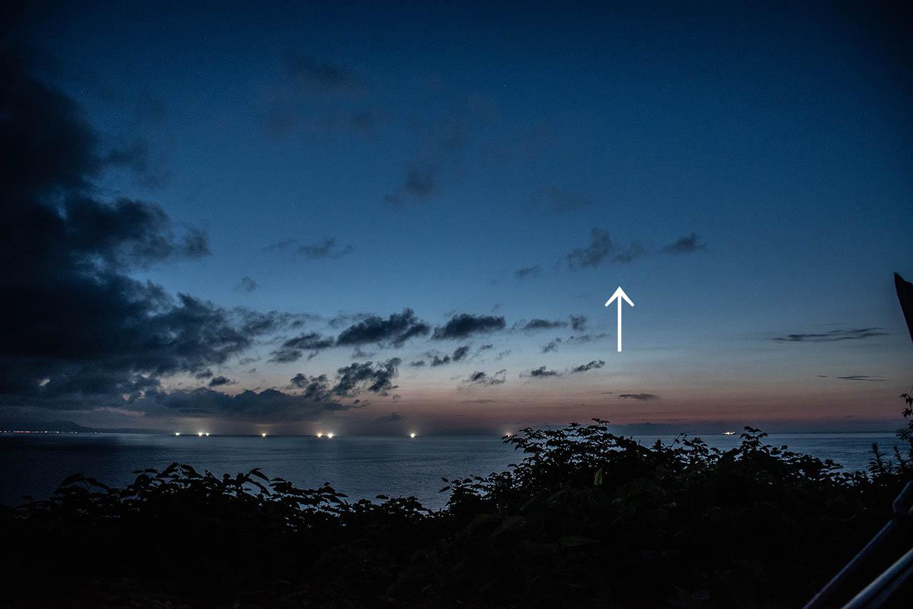 ネオワイズ彗星2020年7月15日小樽オタモイ海岸