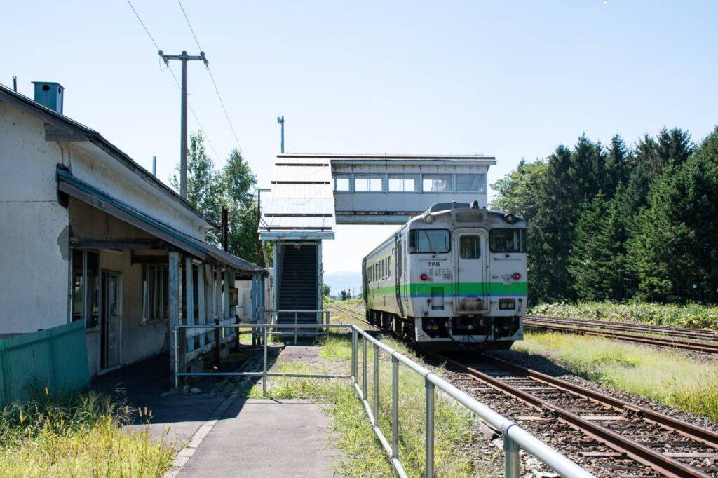 東滝川駅ホーム