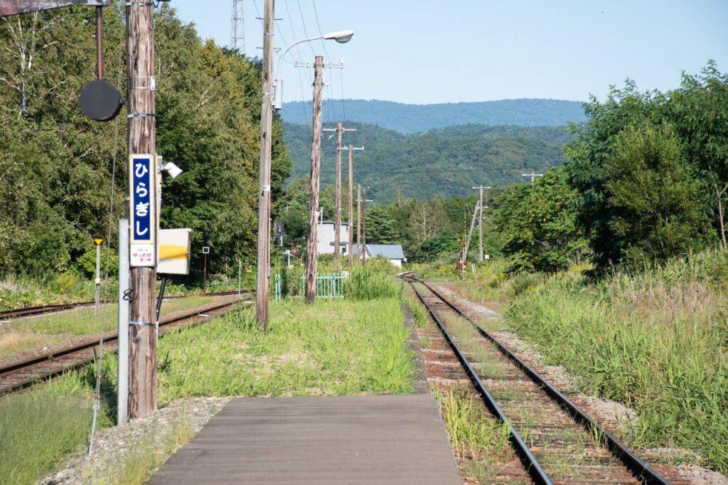 平岸駅ホームの端