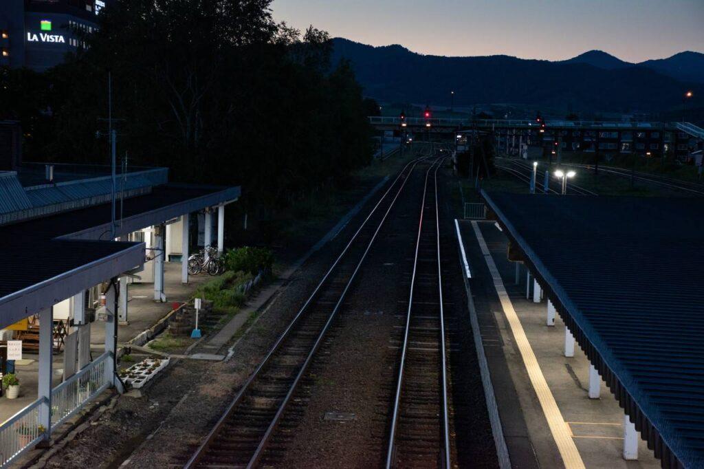 富良野駅ホーム