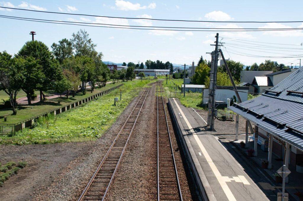 上富良野駅跨線橋の上から